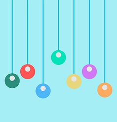 Toys on the ropes vector