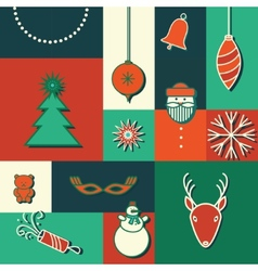 Merry christmas icon card vector