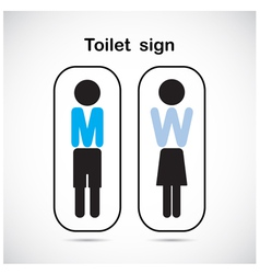 Man and woman toilet sign vector