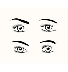 Woman eye silhouettes vector