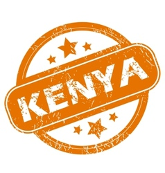 Kenya grunge icon vector