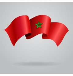 Moroccan waving flag vector