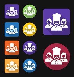 Restaurant workers icon vector