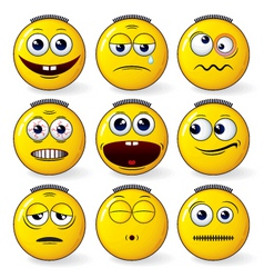 Fun smileys vector