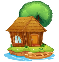 A house on an island vector
