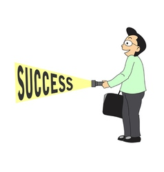 Businessman find success vector
