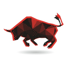 Bull abstract isolated vector
