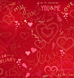 Valentines day ornate background vector