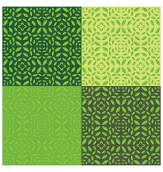 Leaves seamless pattern set of four vector