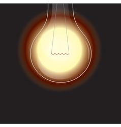 Light bulb is lighting vector