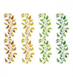 Vine borders vector