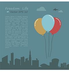 Balloon of freedom life conception vector