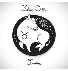 Taurus zodiac sign of horoscope circle emblem in vector