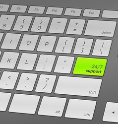 Support keyboard vector