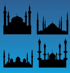 Mosque silhouettes vector