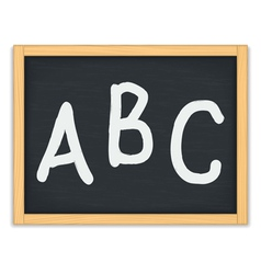 Abc letters on chalkboard vector
