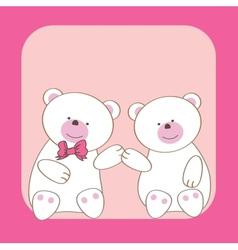 Teddy bears couple vector