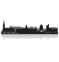 Cork city skyline silhouette vector