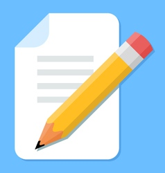 Handwritten document flat design icon vector