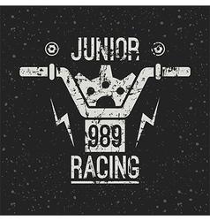 Emblem motorcycle racing junior vector