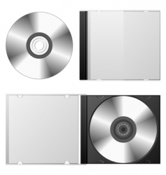 Cd dvd set vector