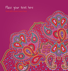 Paisley ornament pink vector