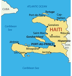Republic of haiti - map vector
