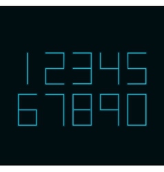 Modern neon numbers on black background vector