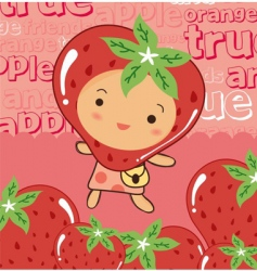 Cute strawberry vector