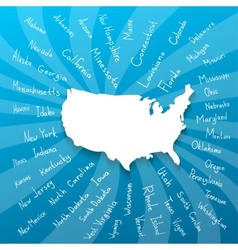Freehand usa states vector