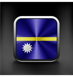 Flag of nauru country emblem icon vector