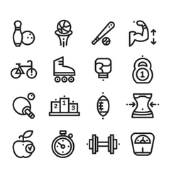 Fitness and health sport icons white background vector