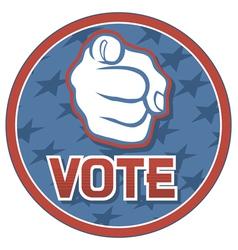 Vote usa badge vector