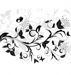 Flowering pattern of a butterfly vector