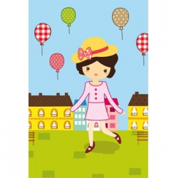 Cute picnic vector