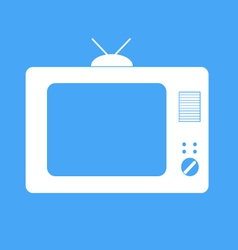 Icon tv on a blue background vector