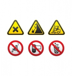Prohibited signs set vector