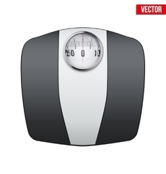 Analog bathroom scale vector