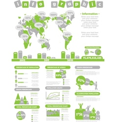 Infographic demographics toy green vector