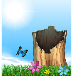 A stump of a tree vector