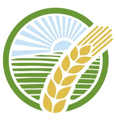 Wheat label vector