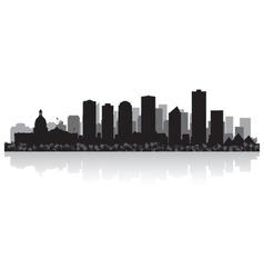 Edmonton canada city skyline silhouette vector