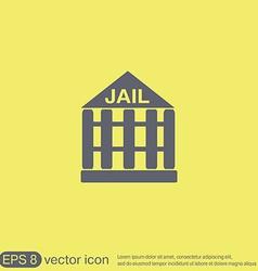 Jail prison icon symbol of justice police icon vector