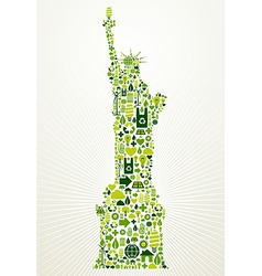 New york go green concept vector