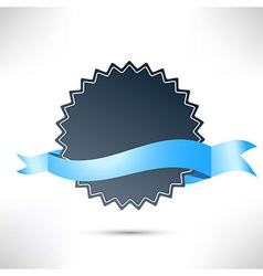 Flat modern badge ribbon template vector