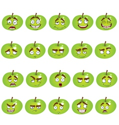 Set of smiles apples vector