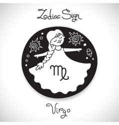 Virgo zodiac sign of horoscope circle emblem in vector