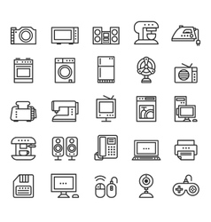 Home appliances and equipment icons modern vector