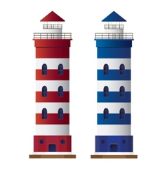 Lighthouse isolated on white background vector