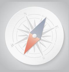 Paper compass vector